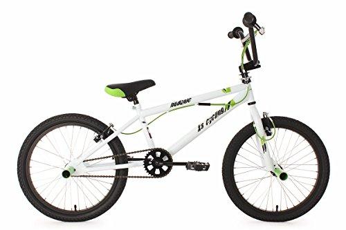 KS Cycling Jungen Fahrrad BMX Freestyle Hedonic, Weiß, 20, 593B