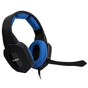 badasheng Rauschunterdrückung Gaming Kopfhörer für PS4 Xbox One Headset mit Mikrofon Abnehmbarer, kompatibel mit Xbox 360, PS3 und PC-Spiel, dehnbares Stirnband, stumme Lautstärke Kontrolle