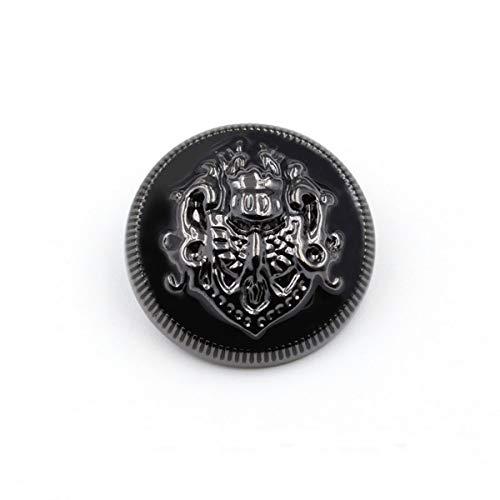 xlygood 10 Stücke der britischen Art-Metallknopf-Mantel Clips überzogene Metall-Snap Nähzubehör, Schwarz, 25mm