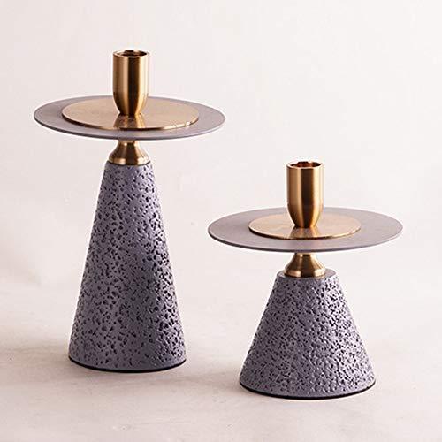 GAL Exquisite Die Neue europäische Stil Marmor zwischen Metall Leuchter Hochzeit Harz Handwerk Wohnzimmer Modellgeometrie Kerzenhalter Ornamente