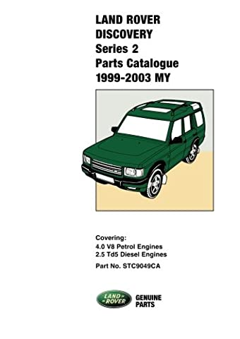 Land Rover Discovery Series 2 Parts Catalogue 1999-2003