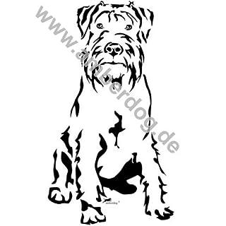Medium Schnauzer Wall Tattoo No. T0125by Amberdog®–The Original, Plastic, 75 x 50 cm