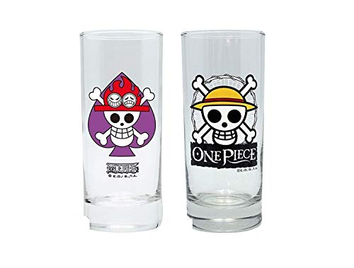 One Piece-Juego de 2unidades -Ace Logo-Ruffy Luffy Logo