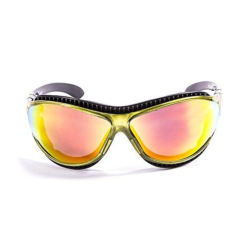 OCEAN SUNGLASSES - tierra de fuego - lunettes de soleil polarisÃBlackrolles  - Monture : Vert Transparent - Verres : Revo Jaune (12201.5)