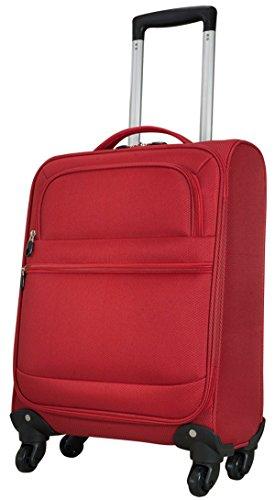 Valise Sicile Rouge Taille M Bagage à main bord bagages kabinentrolley Tissu en nylon 840 D Plastique Valise trolley Case FA. bowatex