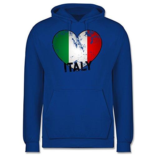 EM 2016 - Frankreich - Italien Herz Vintage - Männer Premium Kapuzenpullover / Hoodie Royalblau