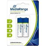 MediaRange MRBAT123 - Pilas recargable 1,2V HR6, Negro