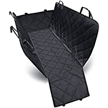 PETCUTE Luxury Dog Seat Car Cover Pets Hammock Convertible Cover 600D Heavy Duty Waterproof Backseat Covers with Extra Side Flaps for Car SUV Truck
