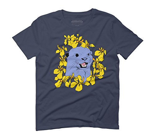 Otter & Flora Men's Graphic T-Shirt - Design By Humans Navy