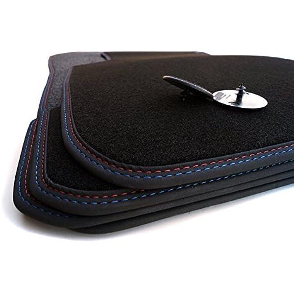 Fußmatten Premium Velour Automatten Doppelnaht M Edition Rot Blau Auto