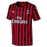 PUMA ACM Home Shirt Replica SS Kids with Sponsor Logo Maillot, Unisex niños, Rojo (Tango Red Black), 12-14 años