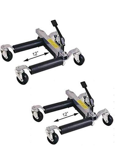 Paire de Chariots Go Jack Hydraulique 680 kg Cric de Deplacement Positionnement (#TM/YDQ1500-12)