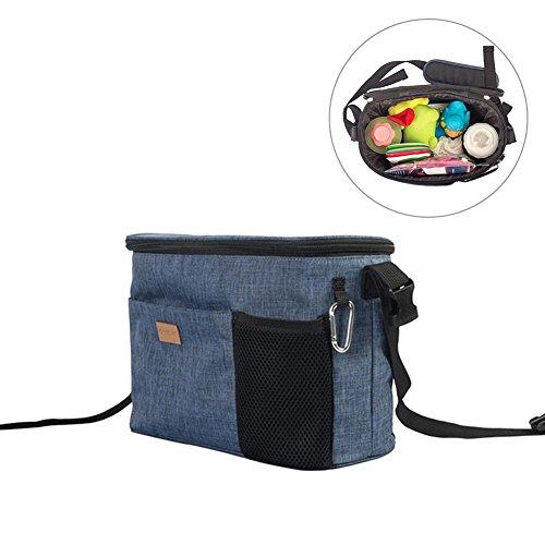 Ibaste multifunzione borsa per passeggino, alta capacità borsetta organizer per il carrello borsa ad sacchetto per appendere carrozzina mommy bag