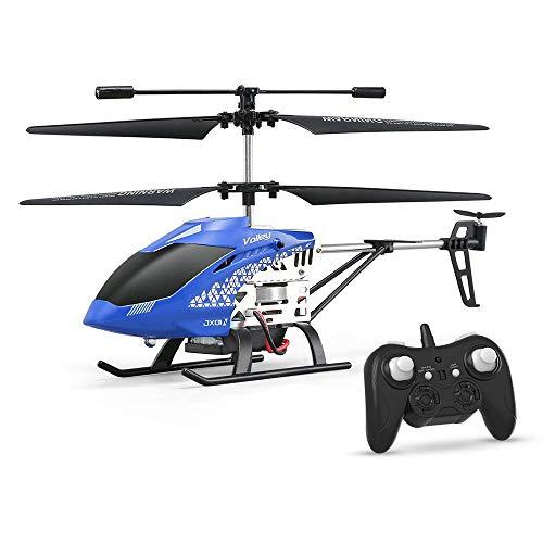 Bseion Hohe Qualität ABS 3CH Höhe Halten RC Hubschrauber/Gyroskop Licht for Anfänger Kinder Kinder Geschenke RC Spielzeug Fernbedienung Flugzeug Drohne mit Licht, blau
