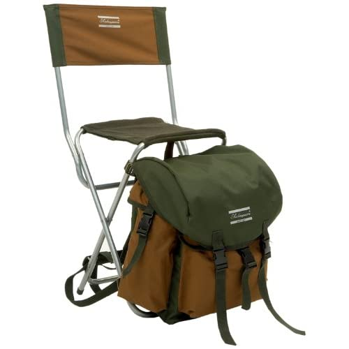 41u6LaoLwfL. SS500  - Shakespeare Deluxe Rucksack Chair - Brown/Green