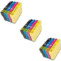 Prestige Cartridge Epson 18XL 12 Cartucce d'Inchiostro Compatibile per Stampanti
