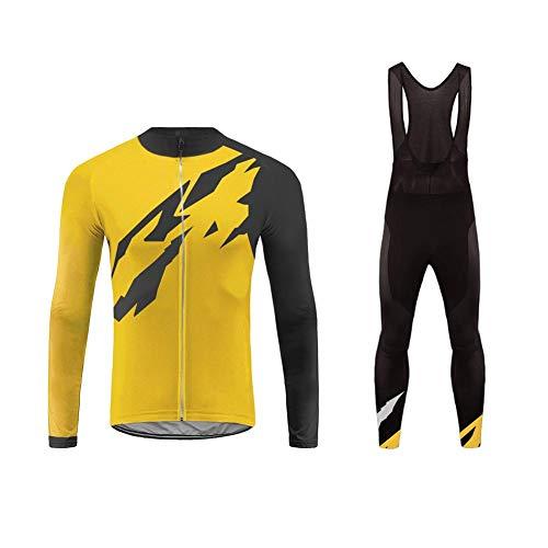 Uglyfrog Abbigliamento Ciclismo Inverno Set Abbigliamento Sportivo per Bicicletta Traspirante Maglia Pantaloni da Uomo ZRMX03