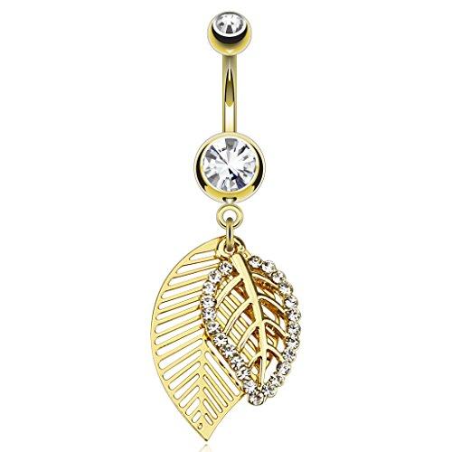 exact4u-bauchnabelpiercing-banane-mit-blatt-anhangern-kristall-besetzt-gold-look-piercing