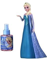 Air-Val Disney Frozen/Die Eiskönigin/Geschenk-Set Elsa Figur in 3D plus Eau de Toilette Parfum Spray 100 ml - für Kinder, 1 Stück