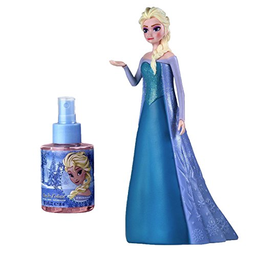 Air-Val Disney frozen die eiskönigin geschenk-set mit elsa figur in 3d im glitterkleid plus eau de toilette parfum spray 100 ml für kinder - air val p6330