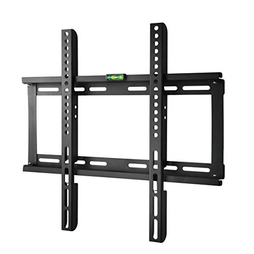 Polarduck TV Wandhalterung, TV Halterung für 23-55 Zoll (ca. 58-140 cm) Flach & Curved Fernseher oder Monitor bis zu 60kg, VESA 400 x 400, 200x 200, Schwarz