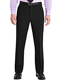24537862cfa Mens Trousers Formal Office Smart Belted Casual Big Plus Size Free Belt  Pocket Dress Pants Straight Leg Bottoms…