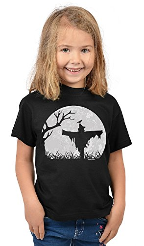 Kinder Halloween T-Shirt - Kindershirt Halloweenparty : Halloween Vogelscheuche - Kinder Tshirt Halloweenparty Vogelscheuche Mond Gr: L = 146-152