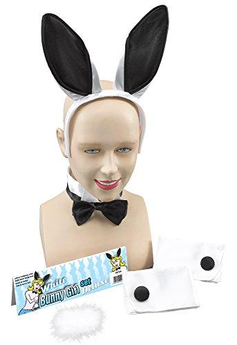 Bristol Novelty DS104 Kaninchen Accessoiren, Schwarz/Weiß, Einheitsgröße (Kostüm Ideen Weißes Kaninchen)