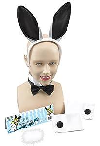 Bunny Girl Set. White/Black (disfraz)