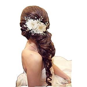 Braut Hochzeit Perlen Haarschmuck Haarblume Blüte Blume Schmuck Haargesteck