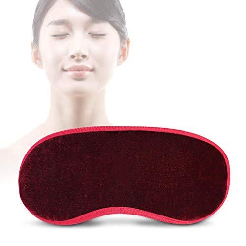 afmaske Damen und Herren, Null-Druck 3D konturierte verbesserte Augenmaske, 100% Magnetfasertuch Augenmaske (Rot) ()