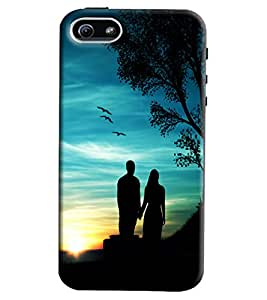 Omnam Couple Standing Near Treee Printed Back Cover Case For Apple iPhone 5/5S