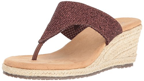 Skechers Cali Womens Monarchs Take Flight Wedge Sandal Bronze