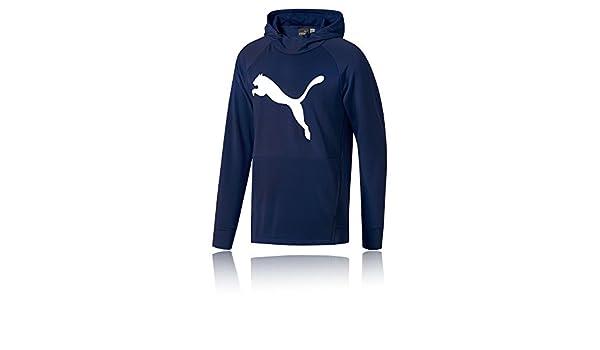 2fa1f511e1 Puma Tec Sports Cat Hoodie - AW18 - X Large Navy Blue  Amazon.co.uk   Clothing