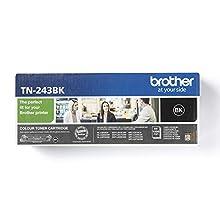 Brother TN-243BK Toner Cartridge, Black, Single Pack, Standard Yield, includes 1 x Toner Cartridge, Brother Genuine Supplies