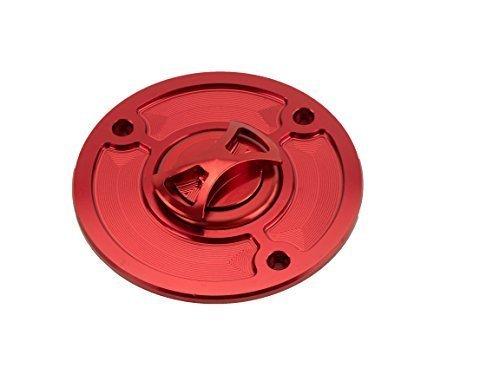 Alu CNC Quick Lock Tankdeckel KTM Duke 125/200/390 rot (Ktm Duke 200-lock)