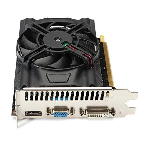 HKFV Radeon Grafikkarte R7 250 diskrete Grafik 2G Speicher VGA DVI HDMI Grafikkarte Gaming PC Grafikkarte - Gddr5 Grafik