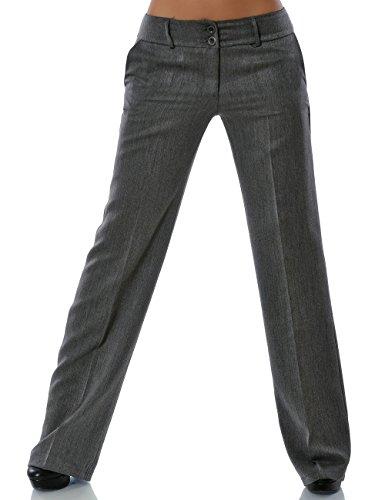 Damen Business Hose Straight Leg (Gerades Bein weitere Farben) No 13572 Grau XL / 42