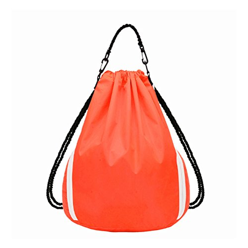 etach Outdoor Ausreit Schultertasche Sport Basketball Kordelzug Bag Travel Rucksack Yoga Fitness Folding Bag Orange