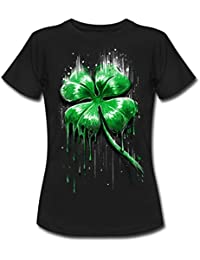 Spreadshirt ST Patrick's Day Melting Four Leaf Clover Women's T-Shirt