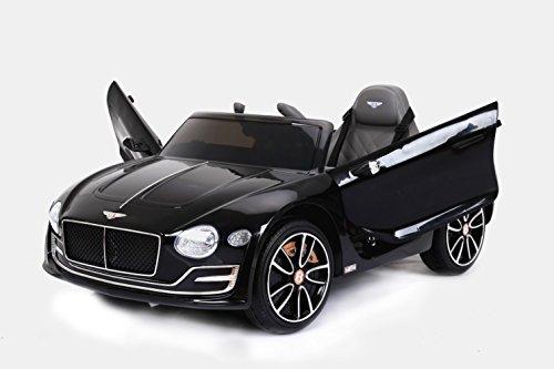 RIRICAR Bentley EXP12, Negro, Licencia Original, Batería accionada, Puertas de la Abertura, Asiento de Cuero, Motor 2X, Batería DE 12 V, 2.4 GHz teledirigido, Ruedas Suaves de EVA, Arranque Suave