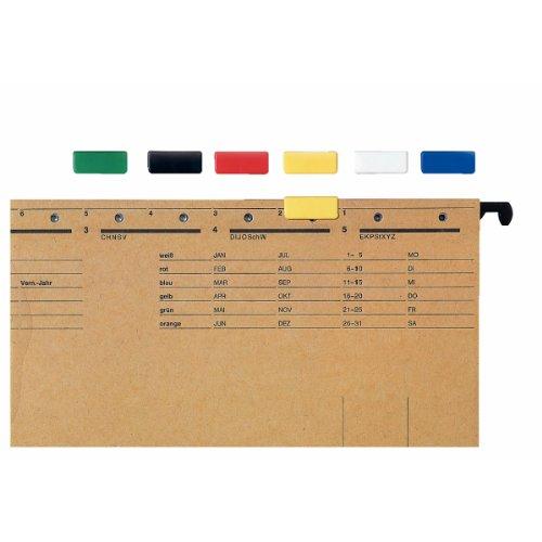 Leitz Signal Slide Tabs - Paquete de 50 etiquetas de identificación por colores, azul