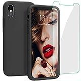 JASBON Coque pour iPhone XS Max Coque Silicone Liquide Protecteur d'écran Gratuit,...