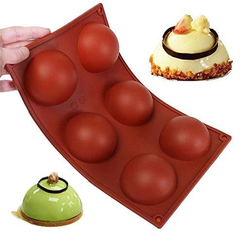 Molde grande de silicona antiadherente para tarta de cocción (6 semiesferas)