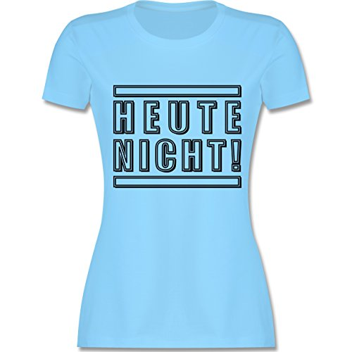Statement Shirts - Heute nicht! - tailliertes Premium T-Shirt mit Rundhalsausschnitt für Damen Hellblau