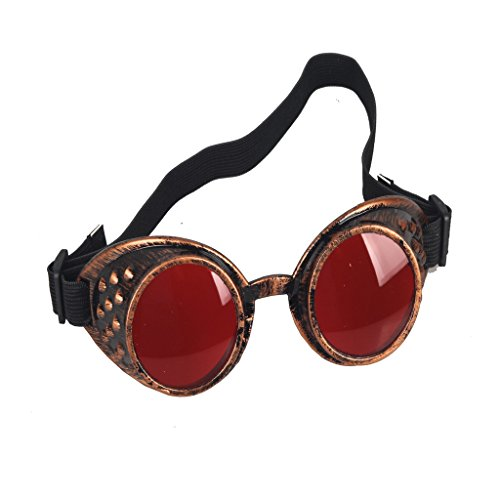 lese-Art Steampunk Goggles Welding Punk Vintage Brille Cosplay (Horse Racing Brille)