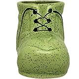 ShopMeFast Shoe Shape Handcrafted Ceramic Pots Ceramic Planter For Indoor Plants/Planters,Home Decor,Garden Decor,Office Decor,Decorative Succulent Pot (Color: Green)(L:17 Cm, W:8 Cm, H:10 Cm)
