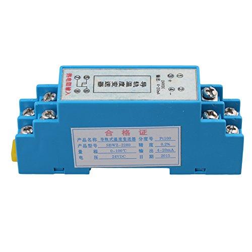Yibuy FTE 0-100Celsius Din Schienen Typ Temperatur Sensor Transmitter 4~ 20mA Ausgang -