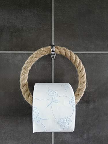 Solenzo Toilettenpapierhalter Vintage - Handtuchhalter - Industrieseil