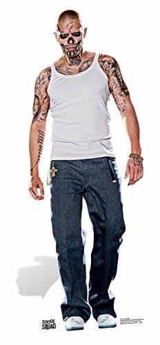 Star Aussparungen EL DIABLO Jay Hernandez Suicide Squad Film Life Größe Pappe, mehrfarbig